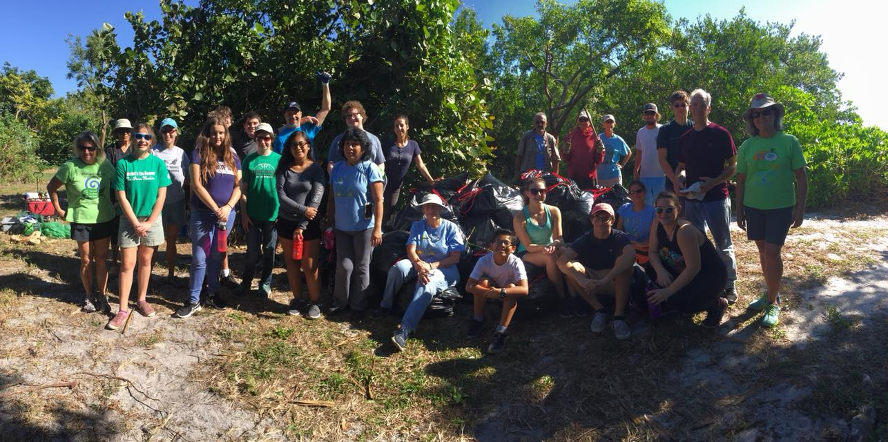 Volunteers standing together at Quick Point Nature Preserve