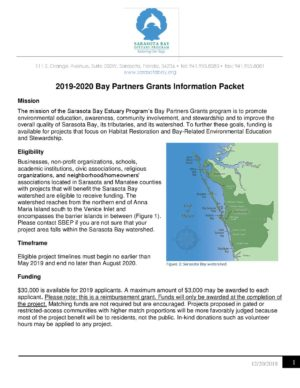 2019 Bay Partners Grant Information