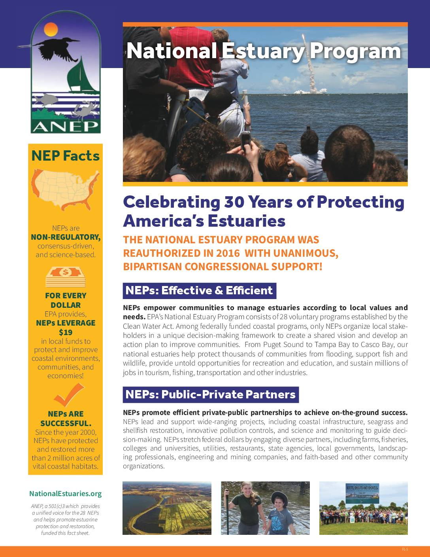 Association of National Estuary Programs Fact Sheet
