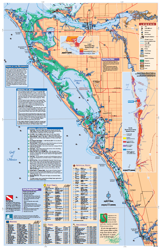 Map of North Sarasota County waters