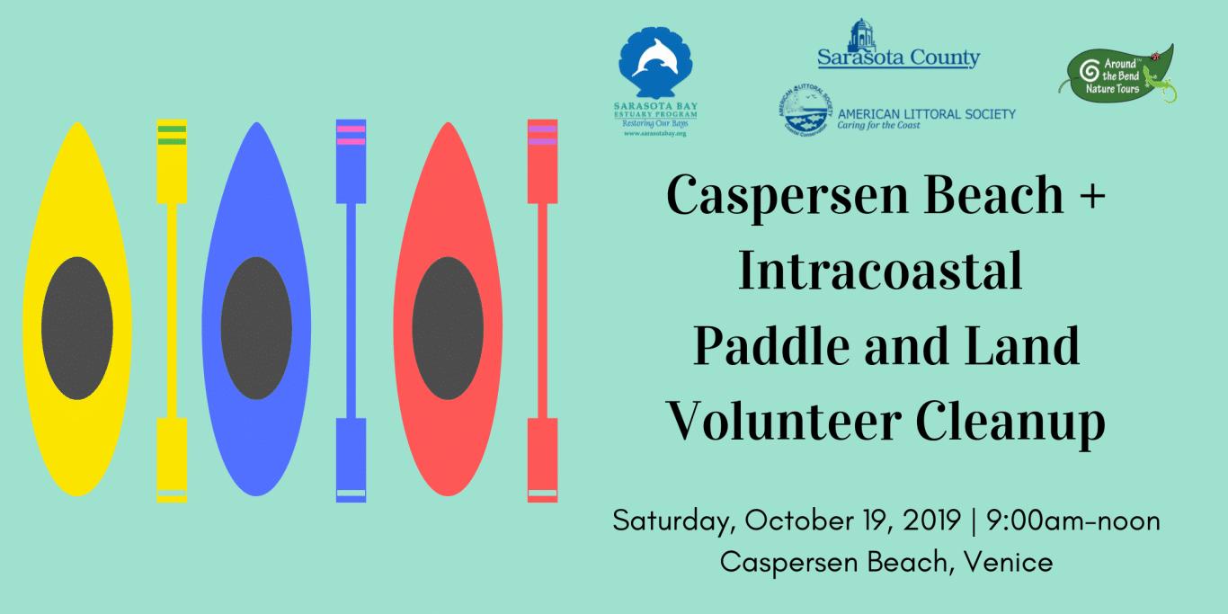 Flyer for Caspersen Beach Volunteer Cleanup