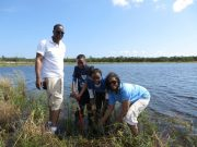EPA's Felicia Burks and family with SBEP