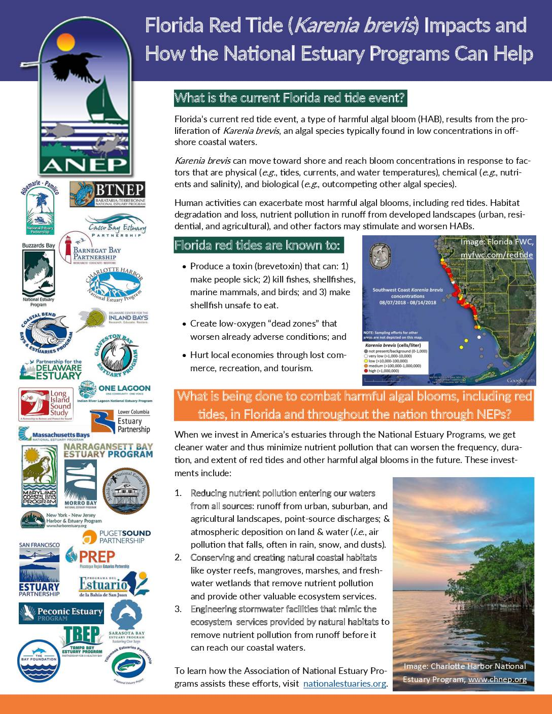Florida Red Tide Impacts and How the National Estuary Programs Can Help