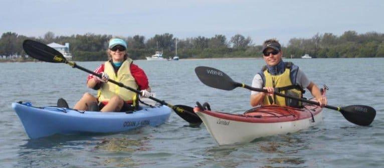 2 people in kayaks on KayakTour
