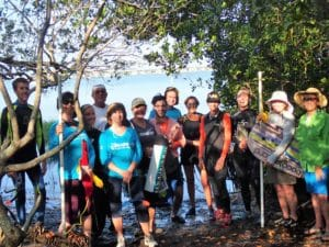 Seagrass survey volunteers