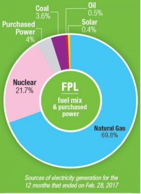 Sources Of FPL Power Donut Chart