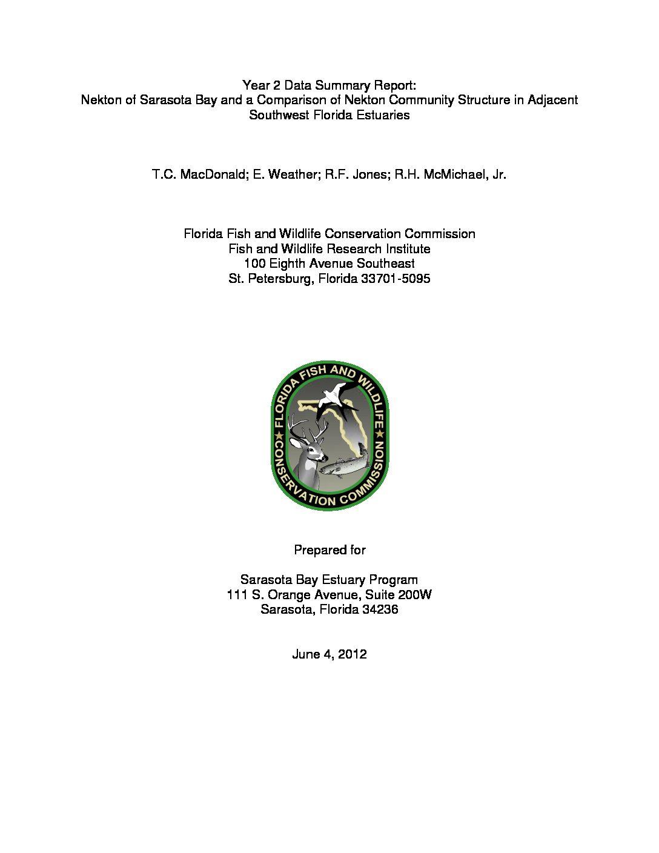 Sarasota Bay FIM Report 2010-2011