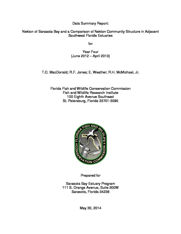 Sarasota Bay FIM Report 2012-2013